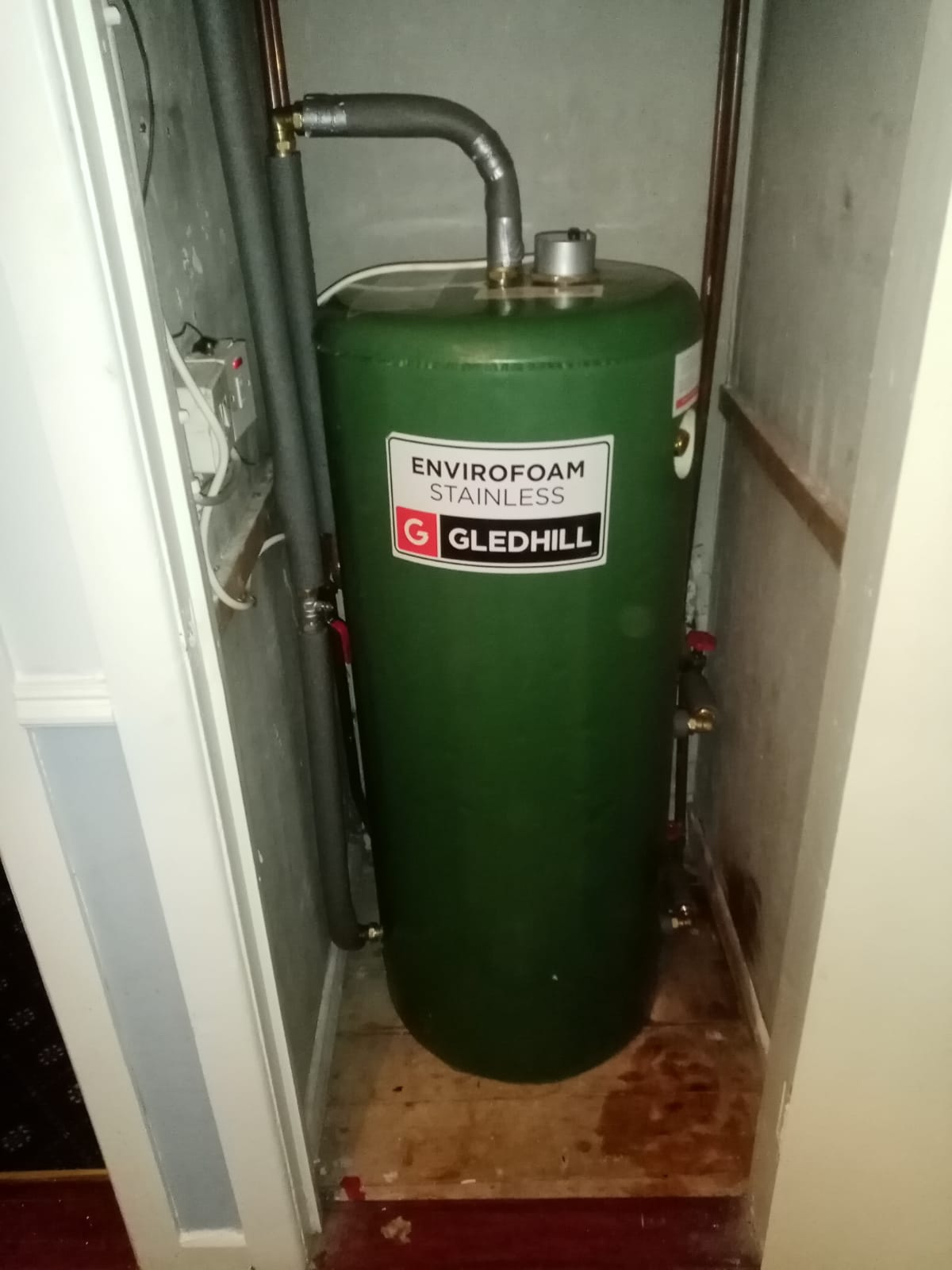 Gledhill Hot Water Cylinder - After Photo AG Heating & Plumbing