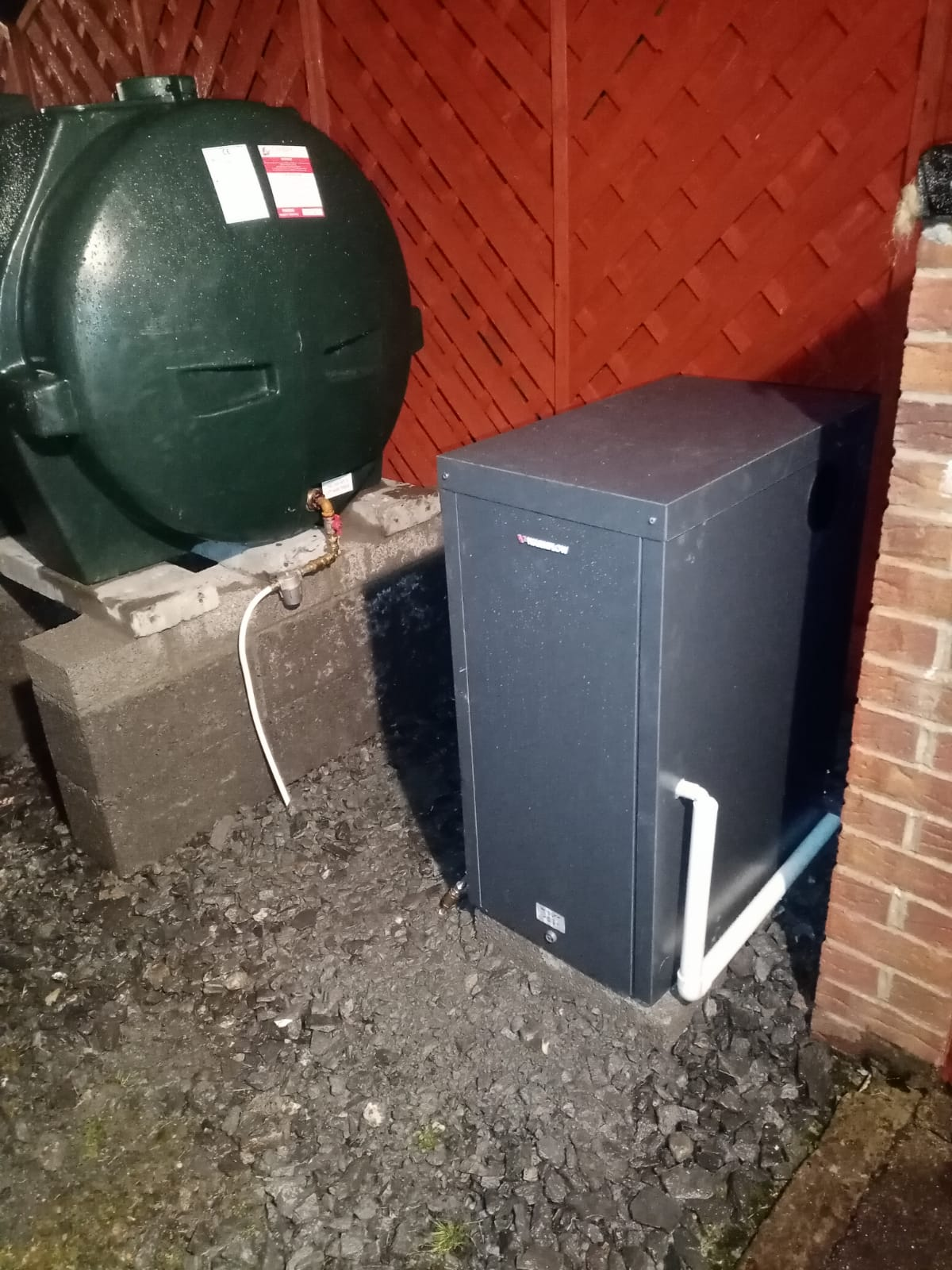 Outdoor Warmflow New Oil Boiler Replacement - After Photo