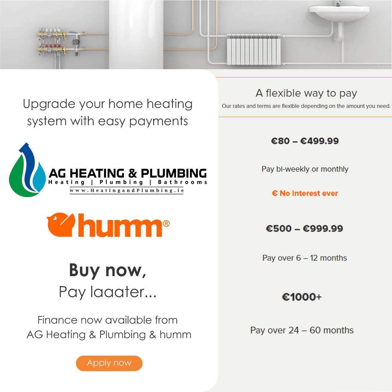 AG Heating & Plumbing Finance Facebook Advert